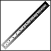 "12"" t-nut position strip for riser slot, with ¼-20 tapped holes"