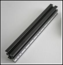 100mm vertical linear riser, engraved, w/ 6 t-slots