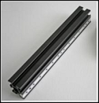 200mm vertical linear riser, engraved, w/ 6 t-slots